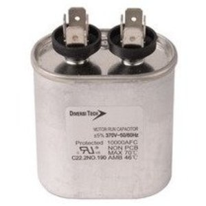 Morris Products T37075H Motor Run Capacitor, Single Capacitance, Oval Can, 370VAC, 7.5uf