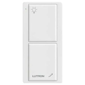 Lutron PJ2-2B-GWH-L01 Wireless Remote Control, 2 Button, Text, Pico, Whit