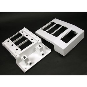 Wiremold 5550A4WH Raceway Offset Mounting Device Bracket, 5500 Series, Steel, White