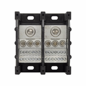 Eaton/Bussmann Series 16373-3 Power Distribution Block, 3-Pole, Single Primary - Multiple Secondary