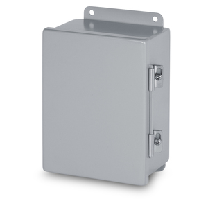 "Austin Electrical Enclosures AB-884JH Junction Box, NEMA 12, Hinged Cover, 8"" x 8"" x 4"" Steel"