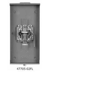 Siemens 47705-02FL Meter Base, 5 Jaw, 320A, OH/UG, Steel Enclosure, Closing Plate