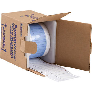 Brady PS-187-150-WT-S PermaSleeve® Heat-Shrink Wire Marking Sleeves