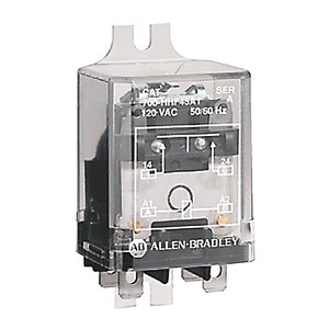 Allen-Bradley 700-HHF62A1 Relay, Power, Flange Mount, 8-Blade, 2PDT, 25A, 120VAC Coil