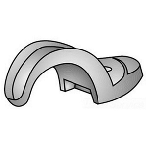 "OZ Gedney 14-75G Rigid Conduit Strap, 1-Hole, 3/4"", Malleable Iron"
