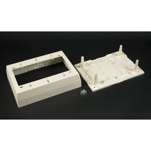 Wiremold 2348-3 Device Box, For 400, 800, and 2300 Raceways, 3-Gang, PVC, Ivory