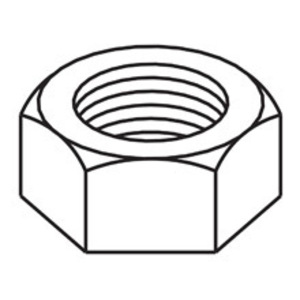 Eaton B-Line 3/8HNZN HEX NUT, 3/8-IN., ZINC