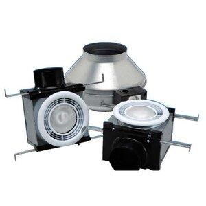 """Fantech PB270H2 In-Line Fan Kit, 4"""" & 6"""""""" Ducts, 230 CFM, Halogen Light"""