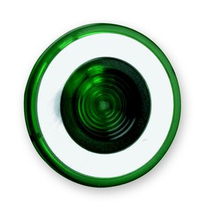 Square D 9001G22 Push Button, Mushroom Head Lens, Green, Illuminated, 41mm Diameter
