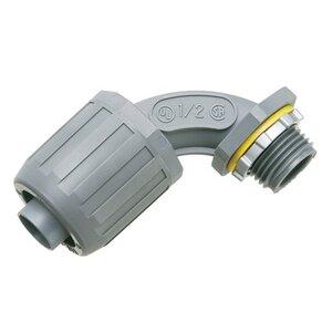 "Arlington NMLT9010 Liquidtight Connector, 90°, 1"", Type Snap-On, Non-Metallic"