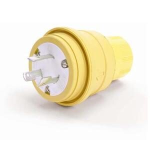 Woodhead 26W48 Locking Plug, 20A, 250V, Wetguard, 2P3W
