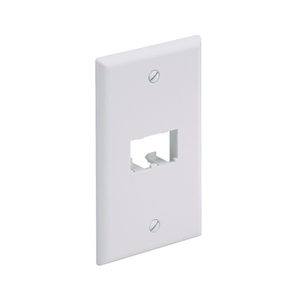Panduit CFP2EI Wallplate, Classic, 1-Gang, 2-Port, Box Mount, Mini-Com, Ivory
