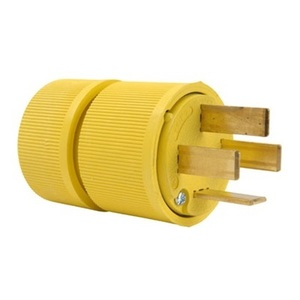 Pass & Seymour D1861 Plug, 60A, 3PH Y 120/208V, 18-60P, 4P4W, Yellow
