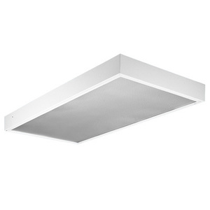 "Lithonia Lighting M232PC1SFMVOLTGEB10PS Surface Mounted Lensed Fixture, 48"", 2-Lamp, T8, 32W, 120-277V"