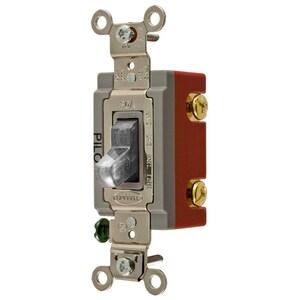 Hubbell-Wiring Kellems HBL1221PLC SP TOG, IND GRD, 20A 120/277V, PL, CLR