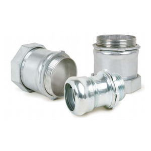"""AFC 0218-08-00 EMT Compression Connector, Insulated, 2-1/2"""", Steel"""