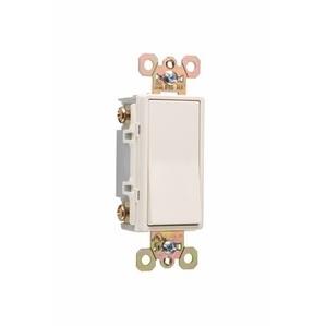 Pass & Seymour 2624-LA 4-Way Decora Switch, 20A, 120/277VAC, Light Almond