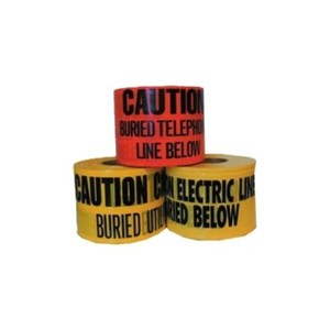 Dottie UT7D Underground Tape, CAUTION BURIED ELECTRIC LINE BELOW, Yellow