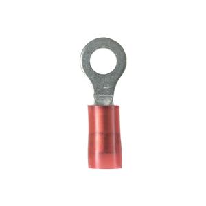 "Panduit PN18-38R-C Ring Terminal, Nylon Insulated, Type: PN-R, 22- 18 AWG, 3/8"" Stud"