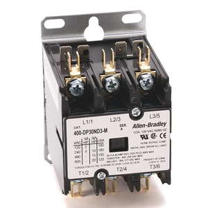 Allen-Bradley 400-DP30ND3 Contactor, Definite Purpose, 30A, 3P, 120VAC Coil, 600VAC Rated
