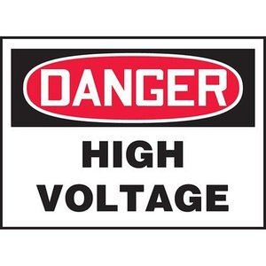 "Panduit PVS0305D7151 3.50"" x 5.00"" DANGER HIGH VOLTAGE  5/PK"