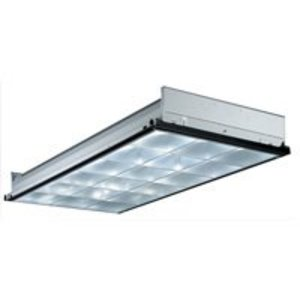 Lithonia Lighting PT32MV Parabolic Recessed Fixture, 2 x 4', 3-Lamp, 18-Cell, 32W, 120-277V
