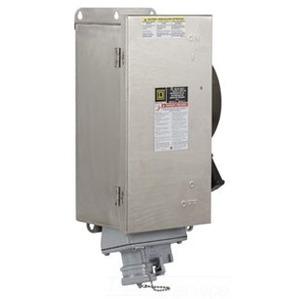 Square D H363AWC Disconnect Switch, Fusible, NEMA 12, 100A, 3P, 600VAC, w/Receptacle