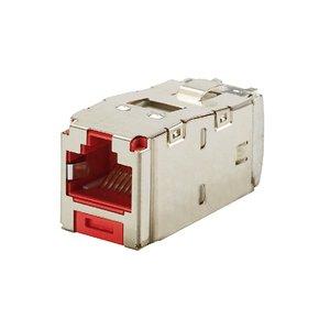 Panduit CJS6X88TGRDY Mini-Com Module, Cat 6A, Shielded, 8 pos
