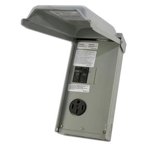 Midwest U054C Power Outlet Panel, Temporary, 70A, 1P, 120/240VAC, NEMA 3R