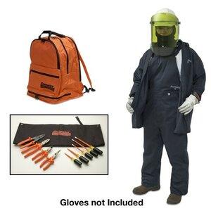 Cementex BPK-CL2K-XL Arc Flash Kit: Jacket, Overpants, Flash Shield Hat, Safety Glasses - Size: XL
