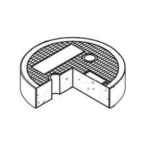 """Oldcastle Precast 1008750 Round Concrete Lid, Reinforced, Diameter: 8-7/8"""", Legend: ELECTRIC"""