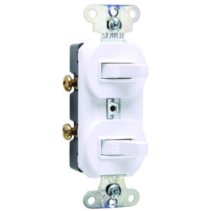 Pass & Seymour 670-W COMBO 2SWITCHES 1POLE 20A120/277V W