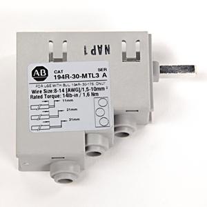 Allen-Bradley 194R-30-MTL3 Terminal Lugs, for 194R-C30, J30, N30, Load Side Only, Multi-Tap
