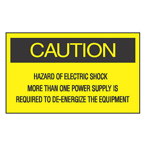 Panduit PLD-74 Label Dispenser, Polyester, 'Caution Haz *** Discontinued ***