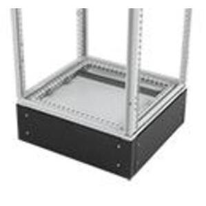 nVent Hoffman PPB2106 Plinth Base, 1000 x 600mm, Cable Access, Black, 4 Corners, 4 Plates