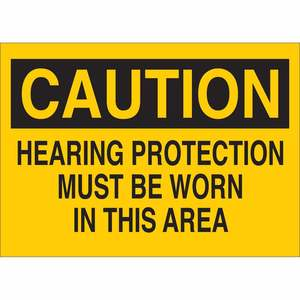 25465 EAR PROTECTION SIGN
