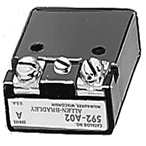 Allen-Bradley 595-A02 Auxiliary Contact, 1 NO, Size 5, for Eutectic Alloy Relay