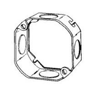 "Appleton 4OE-3/4 4"" Octagon Box Extension Ring, 1-1/4"" Deep, 3/4"" KOs, Steel"