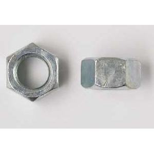 "Bizline 38FHNUSSZJ Hex Nut, USS, Steel, Zinc Plated, 3/8"", Jar of 100"