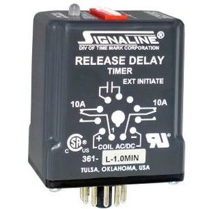 Time Mark 361-L-0.1SECOND Relay, Time Delay, Digital Adjustment, 10-28VAC, 0.1 Second Delay