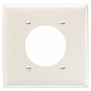 Pass & Seymour SP703-W SMOOTH WALL PLATE 2G POWER OUTLET W