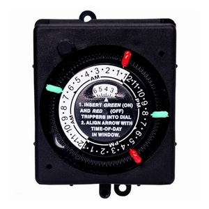 Intermatic PB914N66 24-Hour Panel Mount Timer with Manual Override