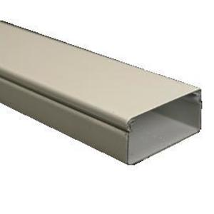 Wiremold V2400BC Raceway Base & Cover, V2400 Series, Steel, Ivory, 5' Long