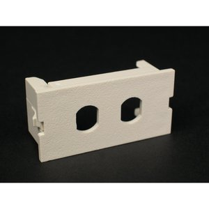 Wiremold CM2-U2ST Unloaded Dual ST Adapter Module, Non-Metallic, Ivory