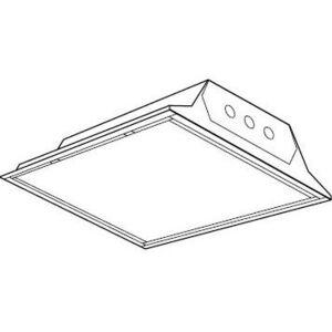 Hubbell-Columbia Lighting JT822-217G-FSA12-ELWU Lensed Troffer, 2 x 2', 2-Lamp, T8, 17W, 120-277V
