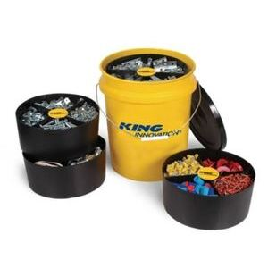 King Innovation 47502 5GAL STORAGE PAIL 2TRAY