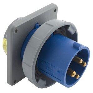 Hubbell-Kellems HBL430B9W Ps, Iec, Inlet, 3p4w, 30a 3p 250v, W/t