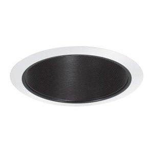 "Elite Lighting AF631P-WH Baffle Trim, Self Flange, Air-Shut, 6"", Black Baffle/White Trim"