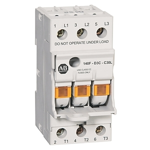 Allen-Bradley 140F-D3C-C30L Fuse Holder, with Blown Fuse Indication, UL Class CC, 30A, 600VAC