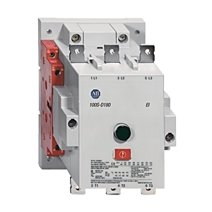 Allen-Bradley 100S-D180EZJ22C Contactor, Safety, 180A, 24VDC, Coil, Contacts, 2NO/NC